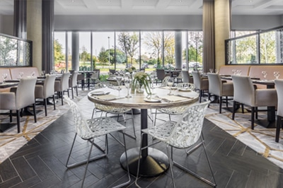 Dining at Heston Hyde Hotel in Hounslow, Middlesex, England