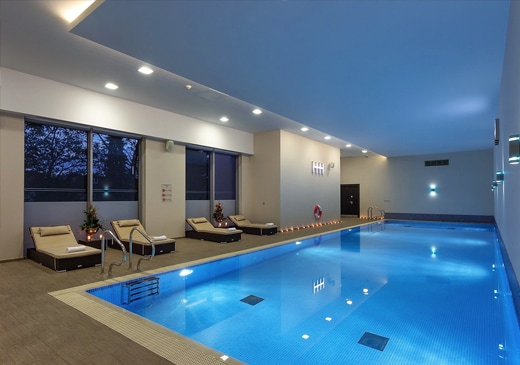 Heated Indoor Pool at Heston Hyde Hotel in Hounslow, Middlesex, England